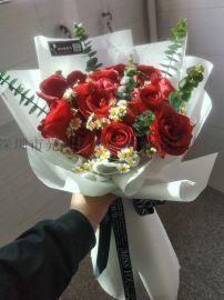 红玫瑰鲜花花束生日鲜花送爱人表白用花