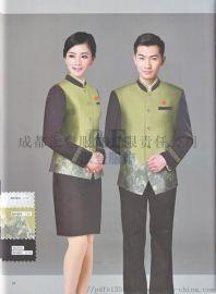 罗江县中式酒店工作服定做厂家派登服饰