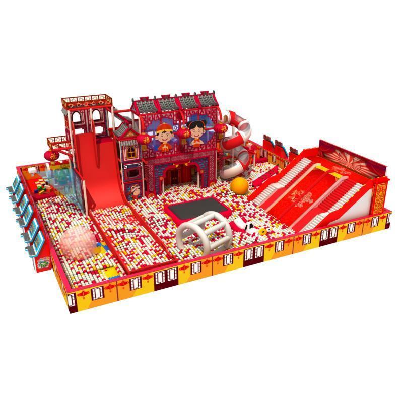定制原创设计中国风室内儿童乐园淘气堡游乐设备厂家