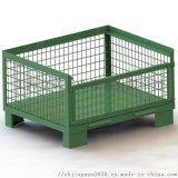 供應半開門歐式金屬網箱,固定倉儲籠