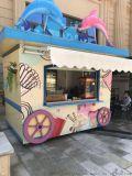 遊樂園特色塗鴉風商品售賣亭