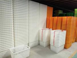 江北塑料筐蔬菜周转筐周转箱带铁柄塑料箱