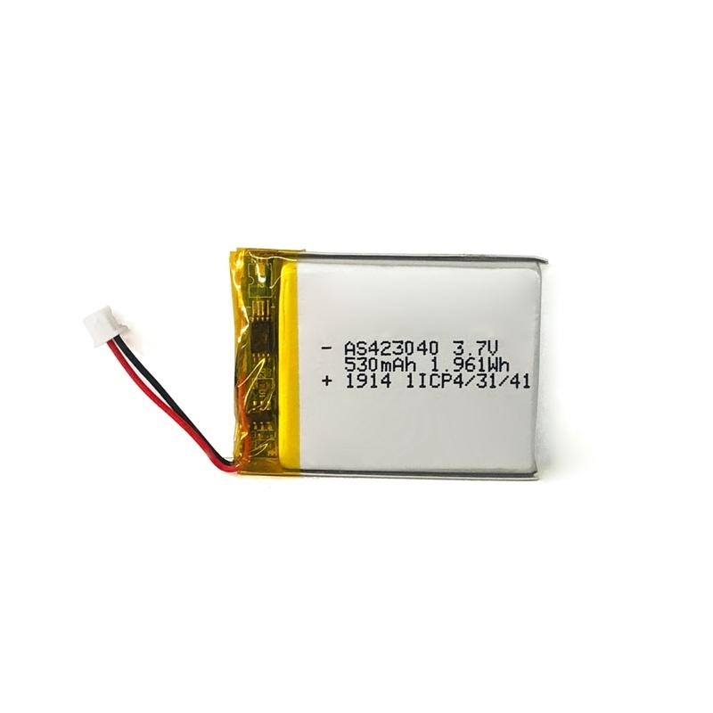 423040 3.7v 530mah锂聚合物电池