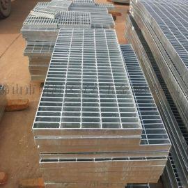 广东中山洗车排水沟盖板楼梯踏步板厂家压焊脚踏钢格板
