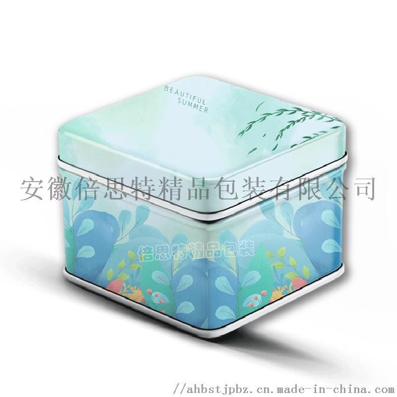 固体香膏铁盒 正方形马口铁盒 婚宴喜糖盒
