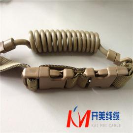 小型弹簧线钥匙扣电源线背带扣螺旋电缆线