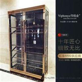 不鏽鋼現代輕奢酒櫃定制
