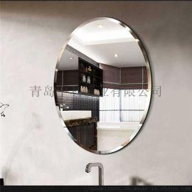 工廠定做單面透視鏡LED發光鏡子試衣玻璃鏡子鏡片
