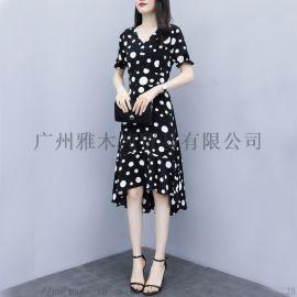大码蕾丝连衣裙夏装女2019新款中长款长裙