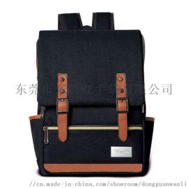 男士休闲双肩包,时尚户外旅行背包女,学生书包定制