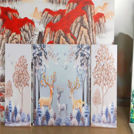 铝单板背景墙艺术装饰风格 吊顶彩绘铝单板装修风格