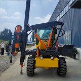 高速公路打樁機 波形護欄壓樁機 裝載機改裝打樁機