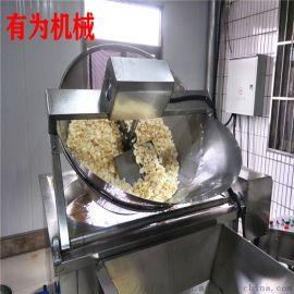 红薯片油炸锅 有为加糖稀不糊锅工艺的油炸设备