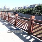 水泥仿木欄杆哪余有安裝?市政工程河道仿木護欄施工
