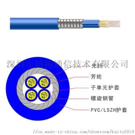单模多模室外铠装光缆 一管双芯 凯拓光通信