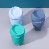 矽膠套防燙玻璃杯 防滑咖啡杯
