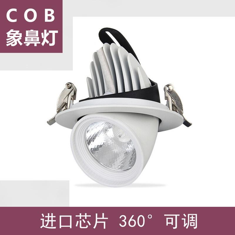 象鼻灯led 25W嵌入式射灯 可调光射灯