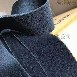 黑绒包辊带 印染机用防滑黑包布 糙面包胶皮