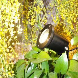 LED3W5W户外投光灯铝材IP65防水插地射灯