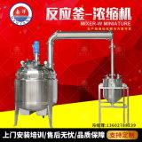廢水低溫真空蒸餾濃縮提取罐 立式不鏽鋼電加熱反應釜