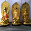 昌東生產大型銅西方三聖佛像 銅雕西方三聖廠家