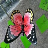 花园彩蝶雕塑仿真昆虫类玻璃钢蝴蝶雕塑也装点了心灵