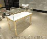 不锈钢珠宝首饰展示柜透明玻璃展柜