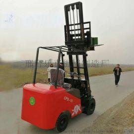 新品电动堆高叉车液压堆垛车1吨升3米货物装卸堆高机