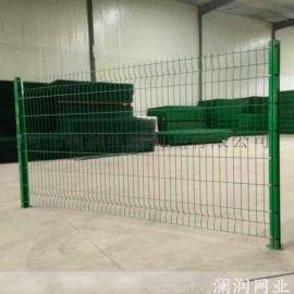 广州桃型柱护栏网三角折弯护栏网图片大全