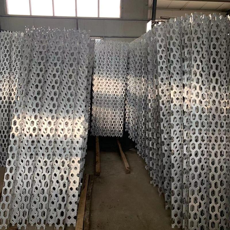 外牆裝飾衝孔鋁板網-長城4s店外牆裝飾網韻味十足