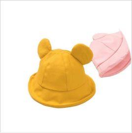 小熊款**防飞沫帽子防唾沫帽隔离面罩渔夫帽