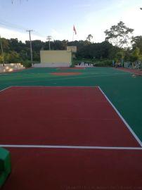 广西龙州篮球场运动地坪漆工程