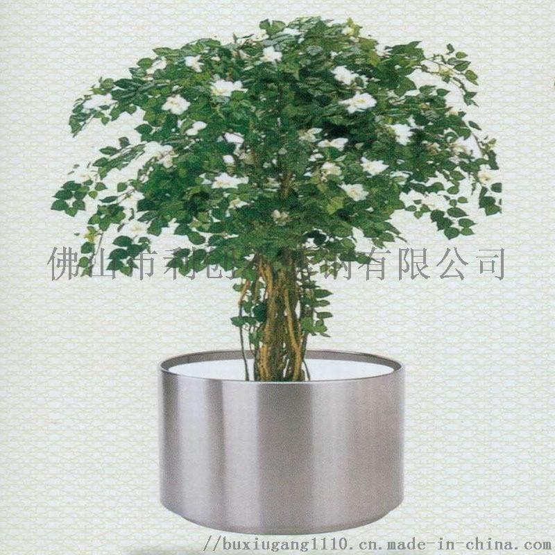 不鏽鋼花盆,商場擺設花盆,大堂花盆,專業生產