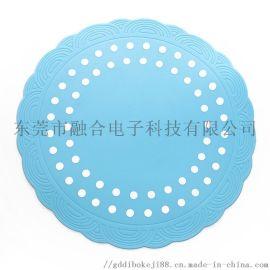 蓝白相间硅胶餐桌垫,防滑隔热垫子_硅胶厨具