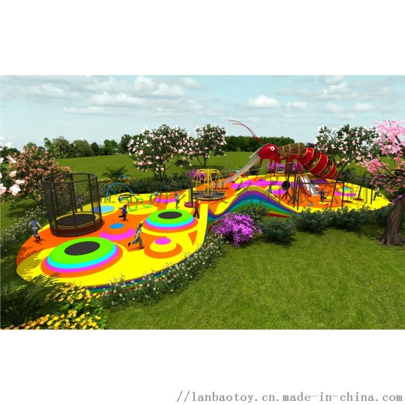 户外无动力定制不锈钢滑梯幼儿园儿童游乐场室外设备