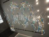 非标工程灯 玻璃装置艺术 用于售楼部水吧区