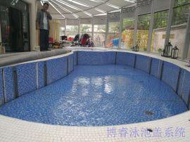 全自动升降游泳池盖 电动泳池盖 泳池保温盖 安全盖 防腐木盖板