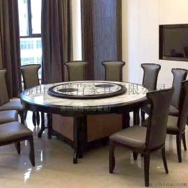 中式隐形电磁炉自玻璃电动餐桌转盘