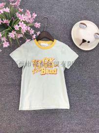 V8儿童夏装T恤连衣裙广州童装折扣货源