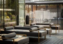 中式风格不锈钢户外沙发 不锈钢沙发组合厂家定做
