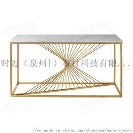 大理石桌面不鏽鋼洽談桌
