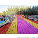 桂林廣場上擺放的抖音網紅橋網紅搖擺橋遊樂設備人氣高