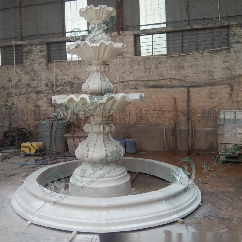 大型砂岩喷水池 公园喷泉园林景观喷水雕塑