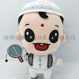 毛绒玩具厂家定制 卡通男孩公仔创意布娃娃来图订做