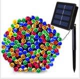 耶誕節熱銷100LED太陽能彩燈串12米