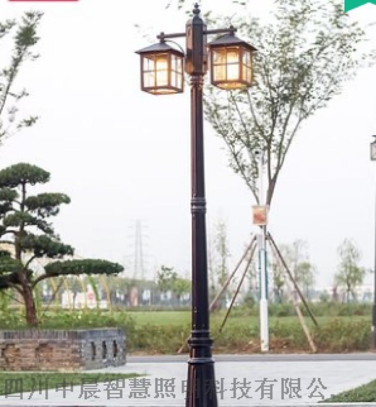 四川中晨双头现代庭院灯led路灯高杆灯