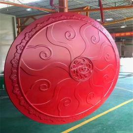 **红色造型铝单板 双曲圆弧造型铝单板