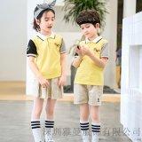小學生校服夏季套裝新款兒童運動服團購定製批發