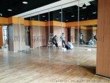 東莞舞蹈室鏡面移動隔斷推拉屏風牆定製