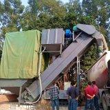 集裝箱運輸幹灰石粉卸車機 無塵拆箱機 碼頭卸灰機